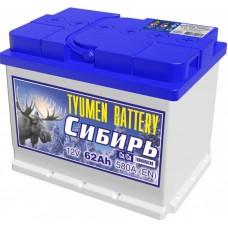 Аккумулятор 6СТ-62 L (580А) п/п СИБИРЬ Са/Са (+;-)