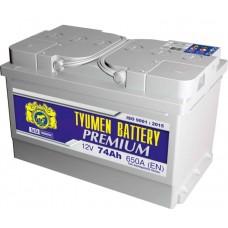 Аккумулятор 6СТ-74 L (650А) о/п PREMIUM Са/Са (-;+) низкий