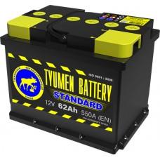 Аккумулятор 6СТ-62 L (550А) о/п STANDART (-;+)