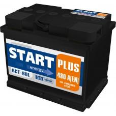 Аккумулятор 6СТ-60 L (480А) п/п START+ Ca/Ca (+;-)