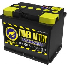 Аккумулятор 6СТ-60 L (550А) о/п STANDART Ca/Ca (-;+)