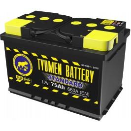 Аккумулятор 6СТ-75 L (660А) п/п STANDART Ca/Ca (+;-)