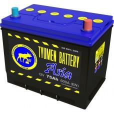 Аккумулятор ASIA 6СТ-75 L (600А) п/п (+;-) (нижн.буртик) 80D26R