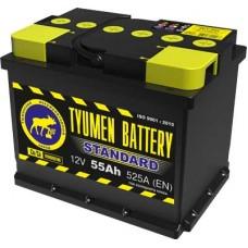 Аккумулятор 6СТ-55 L (525А) п/п STANDART Ca/Ca (+;-)