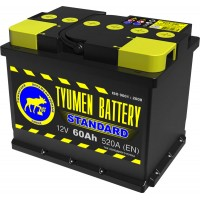 Аккумулятор 6СТ-60 L (520А) п/п STANDART (+;-)