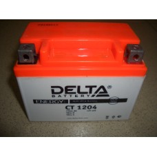 Аккумулятор AGM Delta CT1204 4Ah 50А о/п (-;+) (YB4L-B,YB4L-A,YTX4L-BS) мото