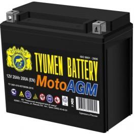 Аккумулятор мото AGM 6МТС-20 20Ah (200A) (12V) о/п (-;+) болт