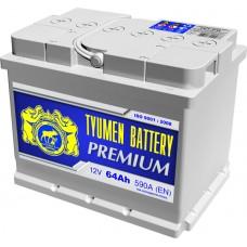 Аккумулятор 6СТ-64 L (590А) п/п PREMIUM (+;-)