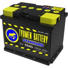 Аккумулятор 6СТ-55 L (500А) п/п STANDART (+;-)