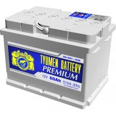 Аккумулятор 6СТ-60 LA (510А) п/п PREMIUM (+;-) низкий