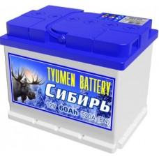 Аккумулятор 6СТ-60 L (530А) о/п СИБИРЬ (-;+) 10.18