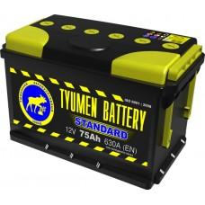 Аккумулятор 6СТ-75 L (630А) п/п STANDART (+;-)