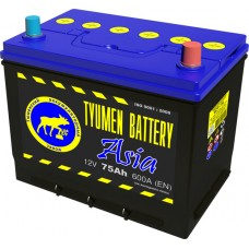 Аккумулятор ASIA 6СТ-75 L (600А) о/п (-;+) (нижн.буртик) 80D26L
