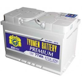 Аккумулятор 6СТ-77 LA (670А) п/п PREMIUM Ca/Ca (+;-)