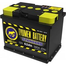 Аккумулятор 6СТ-62 L (580А) о/п STANDART Ca/Ca (-;+)