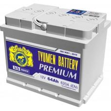 Аккумулятор 6СТ-64 L (620А) п/п PREMIUM Ca/Ca (+;-)