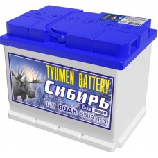 Аккумулятор 6СТ-60 L (560А) п/п СИБИРЬ Ca/Ca (+;-)