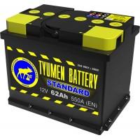 Аккумулятор 6СТ-62 L (550А) п/п STANDART (+;-)